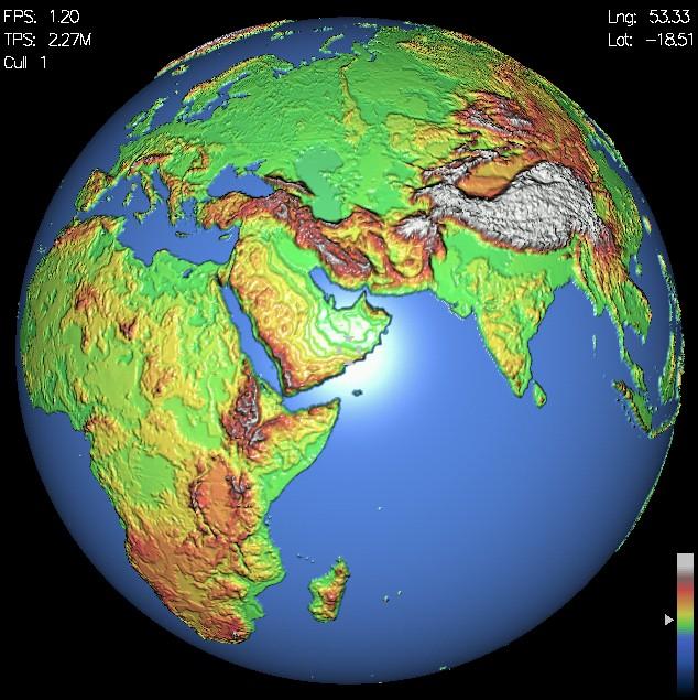 Freeware Interactive 3D Earth Simulator