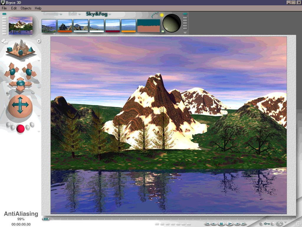 bryce animation software
