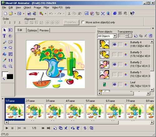 Ulead animator screenshot